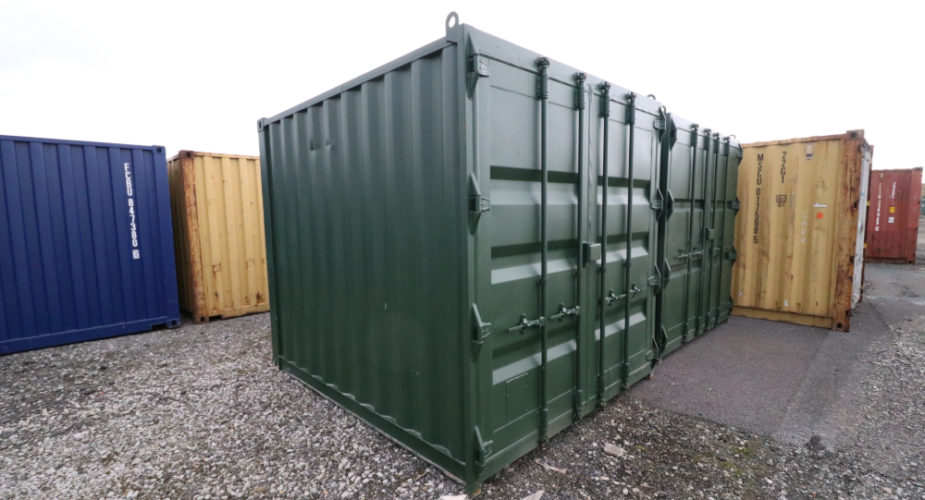 10ft Used Refurbished Storage Container - External view with doors closed