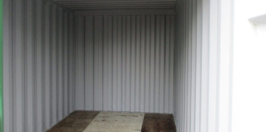 15ft used refurbished container - internal view