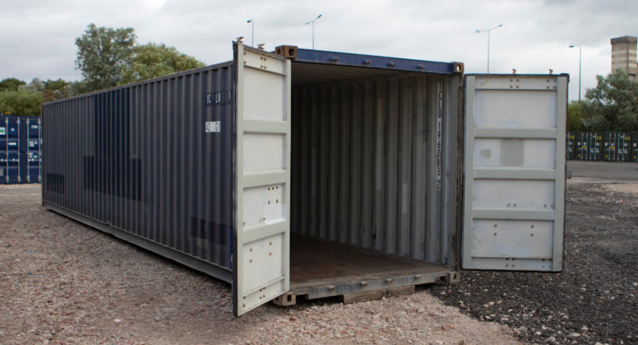 40ft Used Shipping Container - External view with doors open