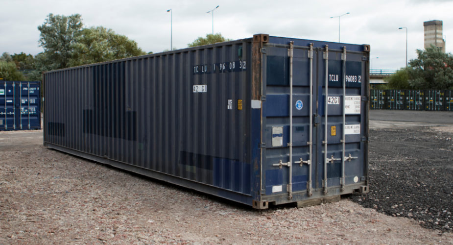 40ft Used Shipping Container - External view with doors closed