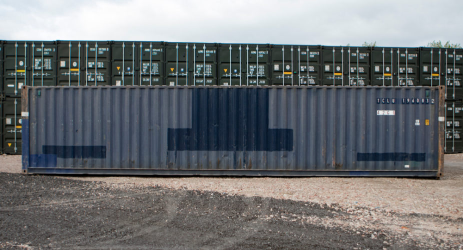 40ft Used Shipping Container - External side view with doors closed