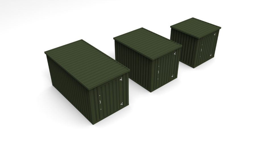 Flat Pack Storage Containers - External view