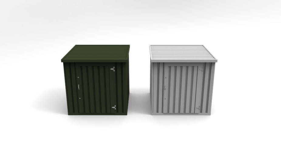 Flat Pack Storage Containers - External front view