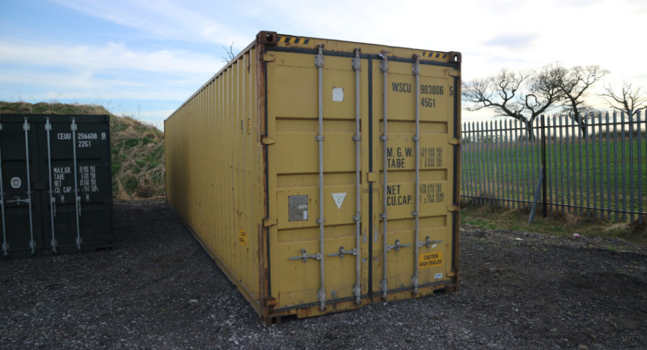 40ft Used High Cube Shipping Container - External view with doors closed