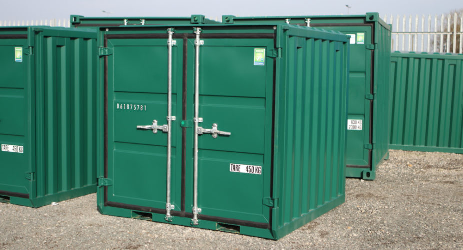 6ft New Build Container - External view with doors closed