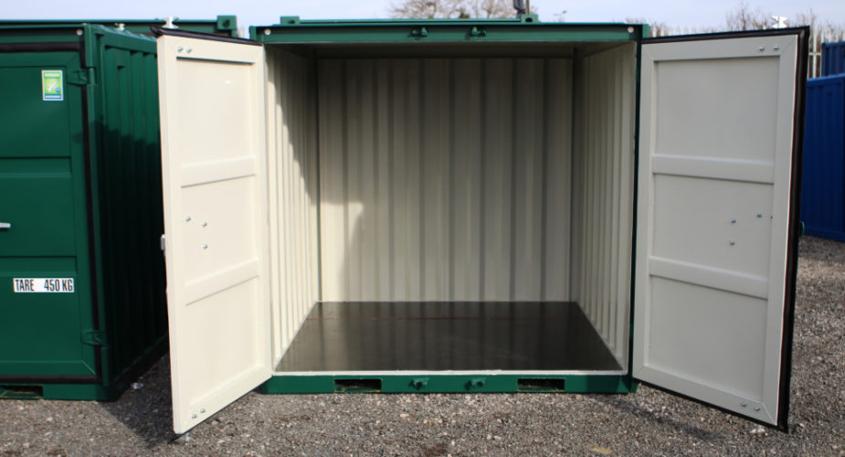 6ft New Build Container - External front view with doors open