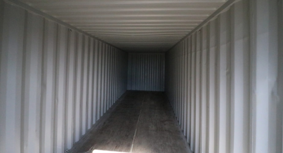 30ft Used Refurbished Storage Container - Internal view