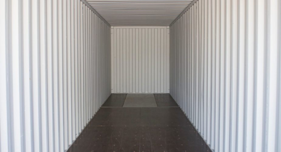 40ft New 'One Trip' High Cube Shipping Container - Internal view
