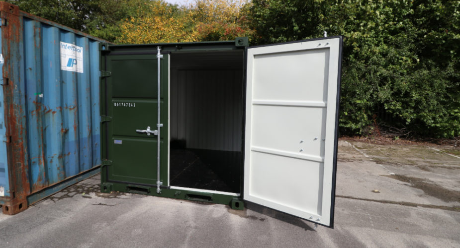 8ft New Build Container - External view with one door open