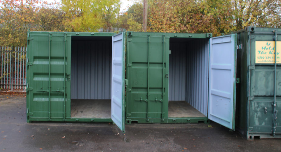 10ft Used Refurbished Storage Containers - External view with doors open