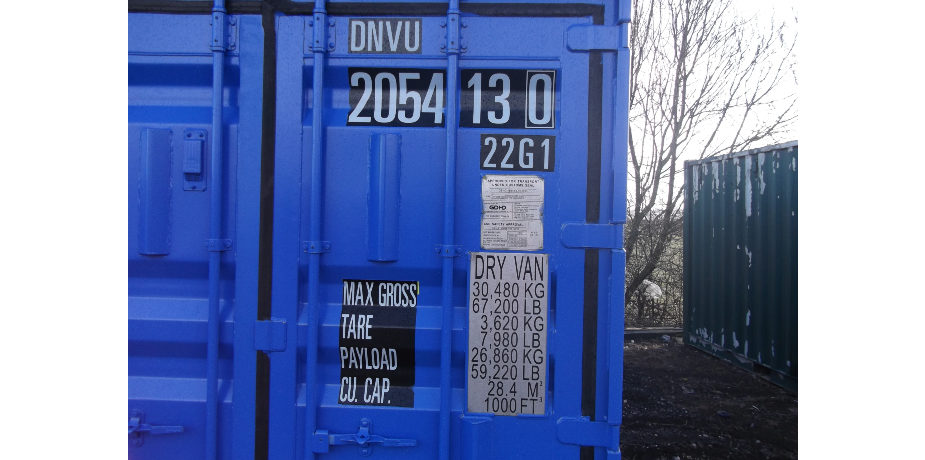 Offshore DNV 2.7-1 shipping container - front view
