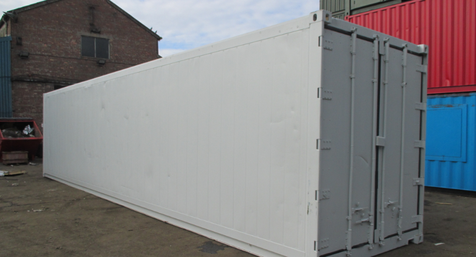 Refrigerated shipping container - external view with doors closed