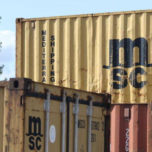 20ft used shipping containers - A range of 20ft used shipping containers at our Stockton A19, Teesside container sales depot