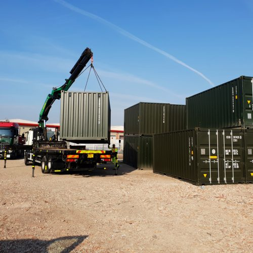 Container collection - 20ft new 'one trip' container collected form Teesside container depot.