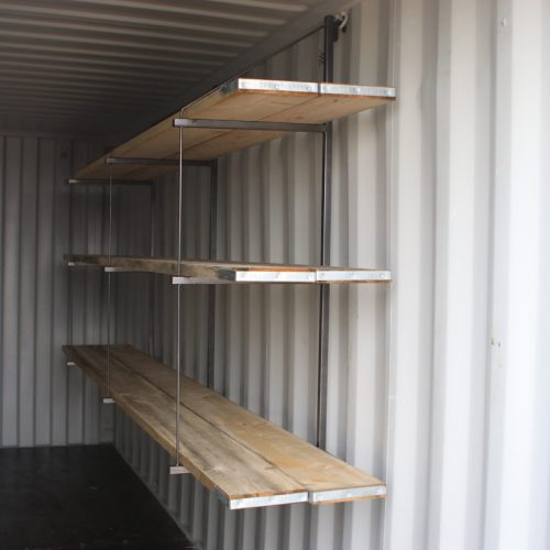 How does this rack up? - Quick to assemble container racking installed internally, using the lashing rings.