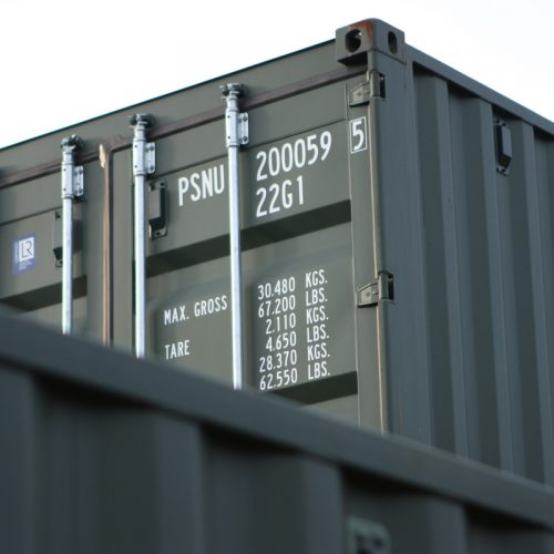 I see you - One of our PSNU 20ft new 'one trip' shipping containers making an appearance.