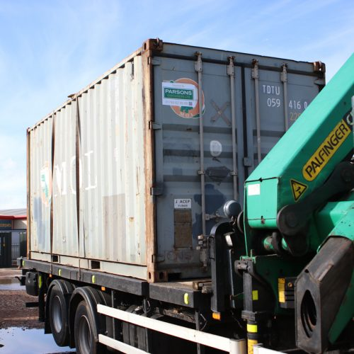 Used container out for delivery - 1no. 20ft used container collected and ready to be delivered to our customer.