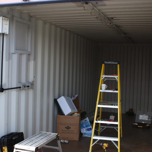 Workshop production - One of our container conversions in production for a workshop container.