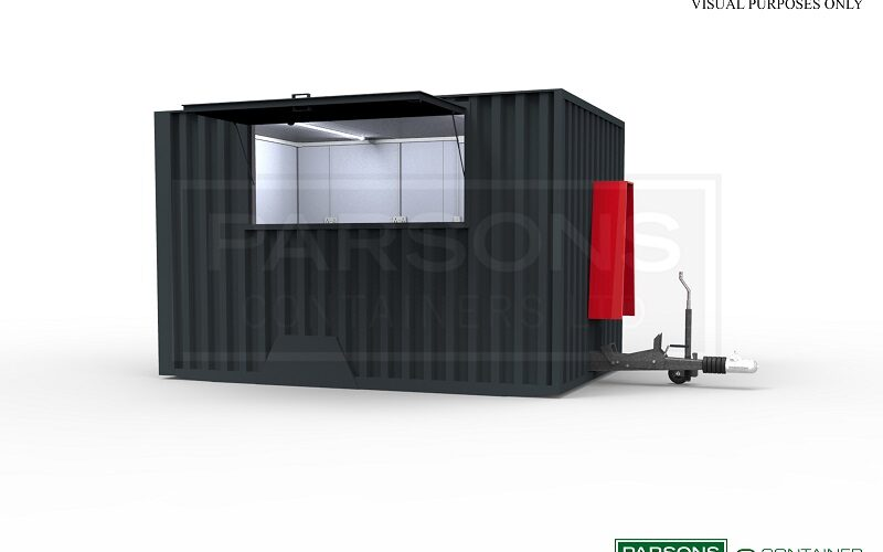 12ft Moveable Catering Container (on ground)