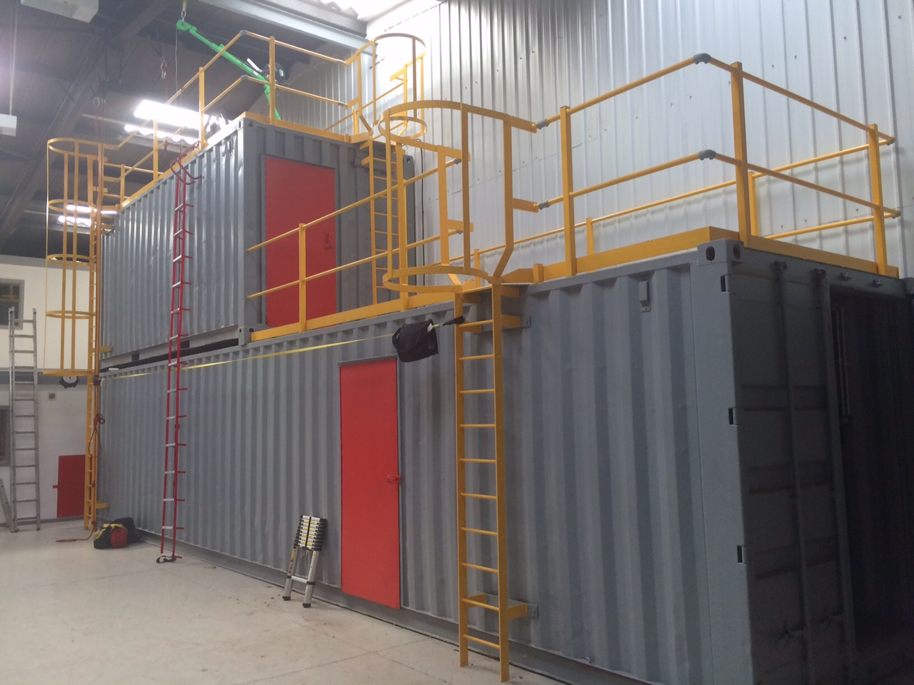 Fire Training Unit Shipping Container Conversion